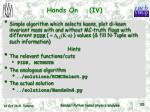 hands on iv