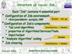 structure of gaudi job