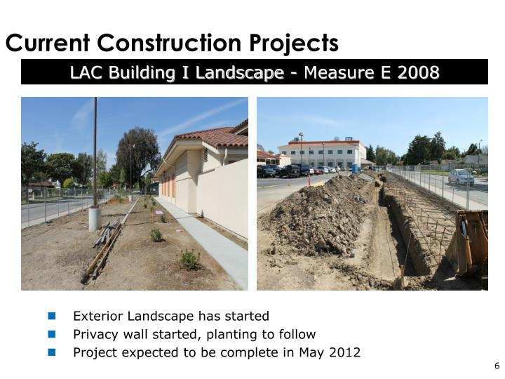Current Construction Projects