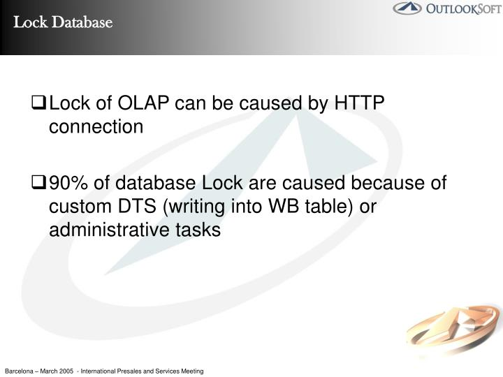 Lock of OLAP can be caused by HTTP connection