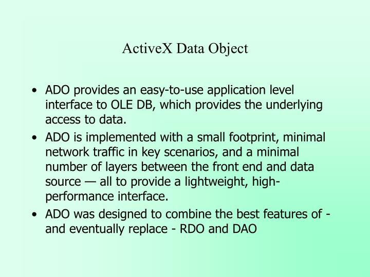 ActiveX Data Object