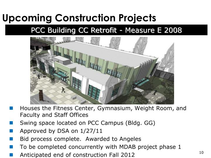 Upcoming Construction Projects