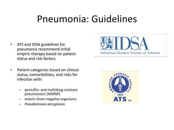Pneumonia: Guidelines