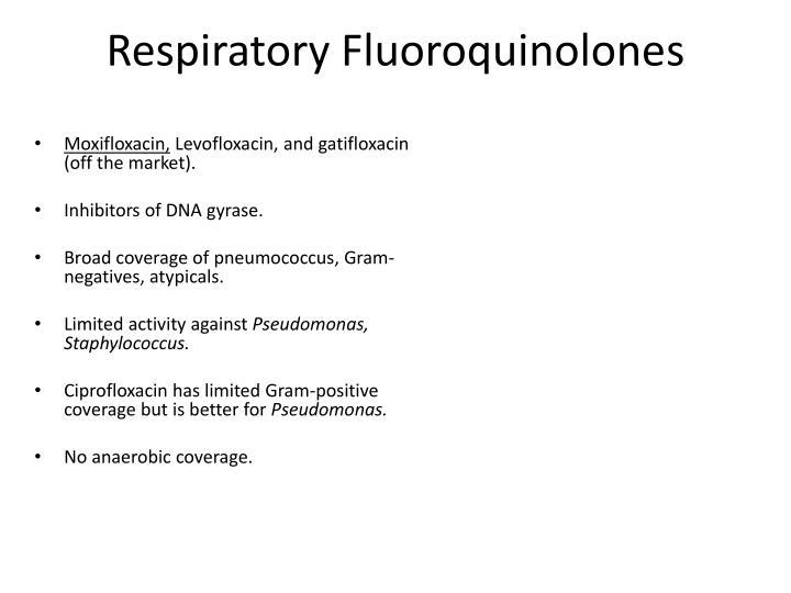 Respiratory Fluoroquinolones