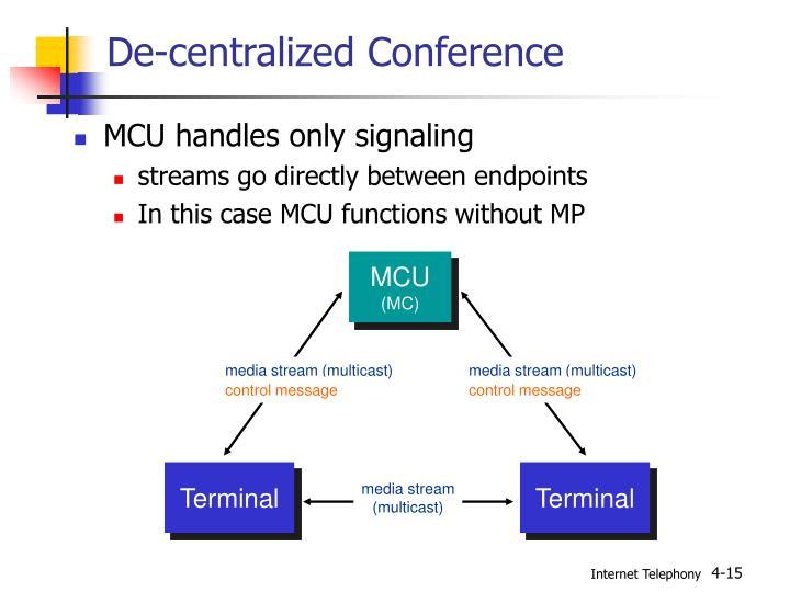 De-centralized Conference