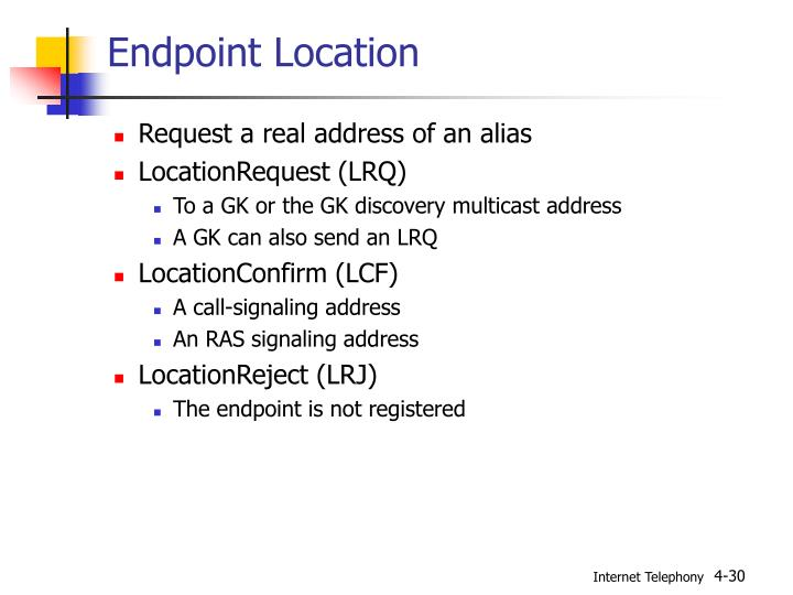Endpoint Location