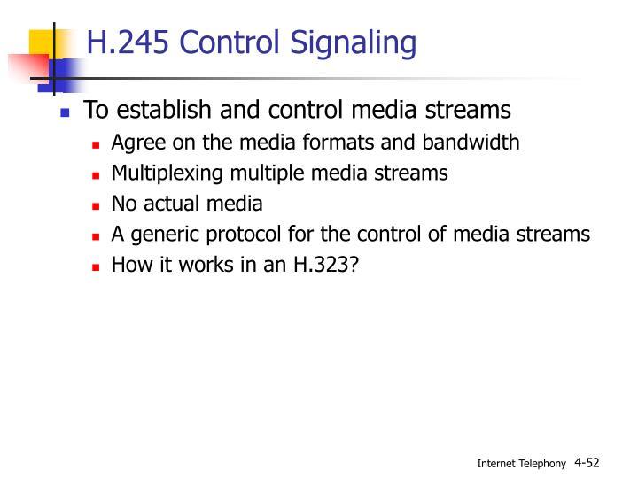 H.245 Control Signaling