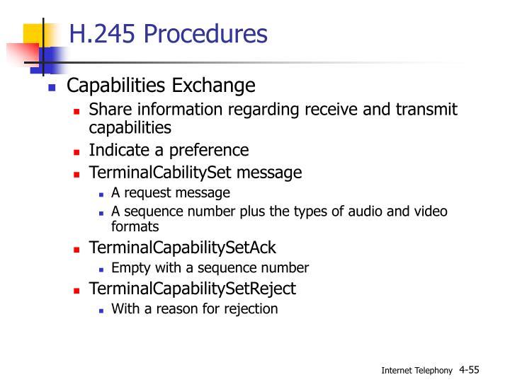 H.245 Procedures