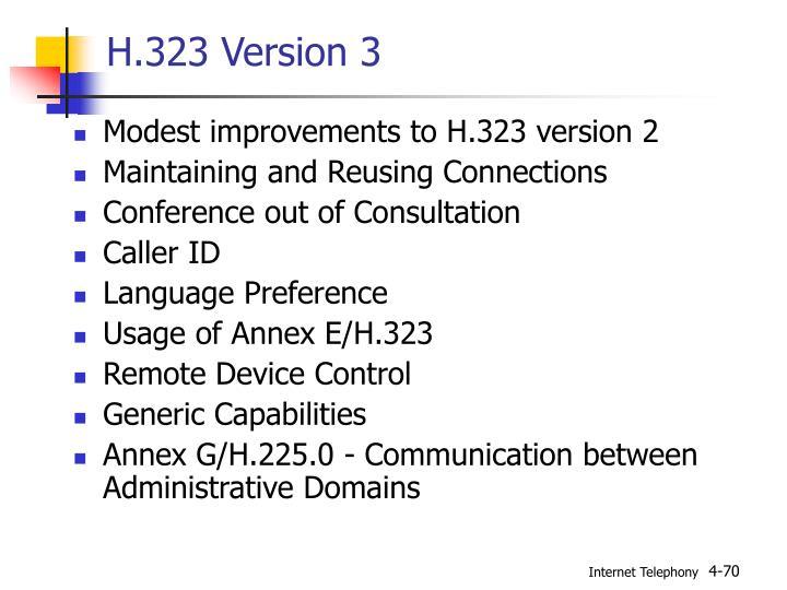 H.323 Version 3