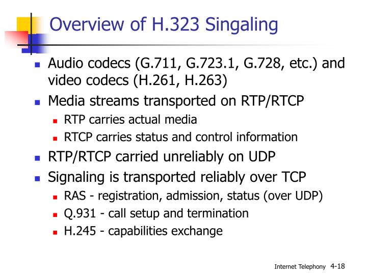 Overview of H.323 Singaling