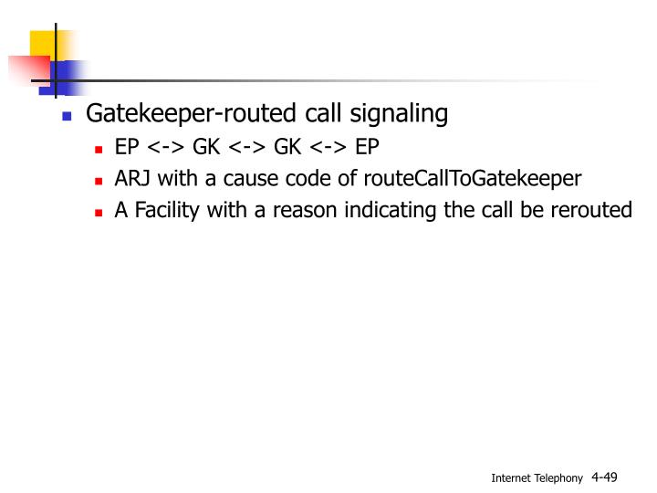 Gatekeeper-routed call signaling