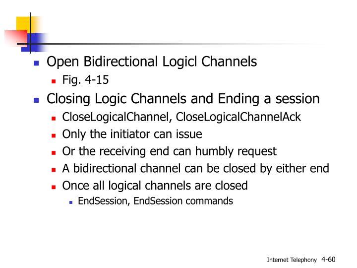Open Bidirectional Logicl Channels