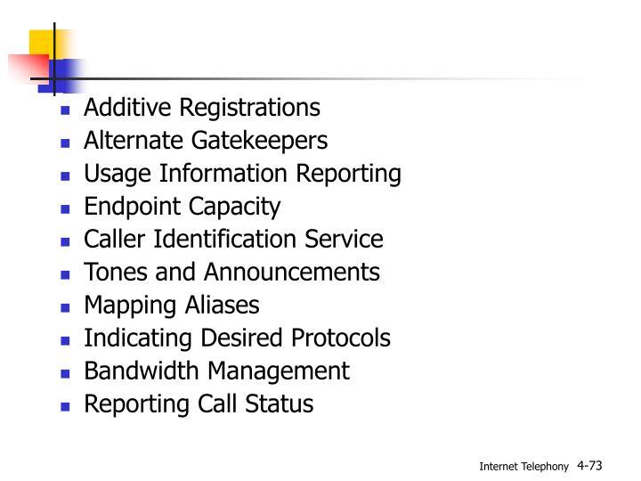 Additive Registrations