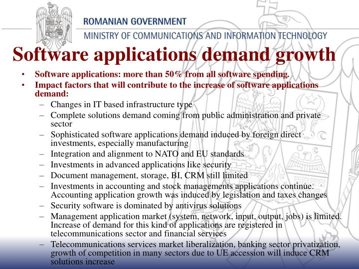 Software applications demand growth