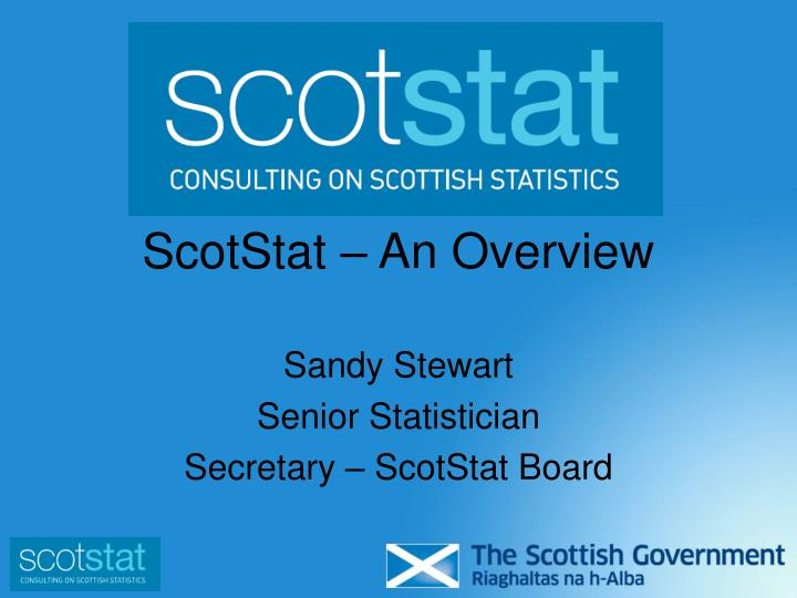 scotstat an overview n.