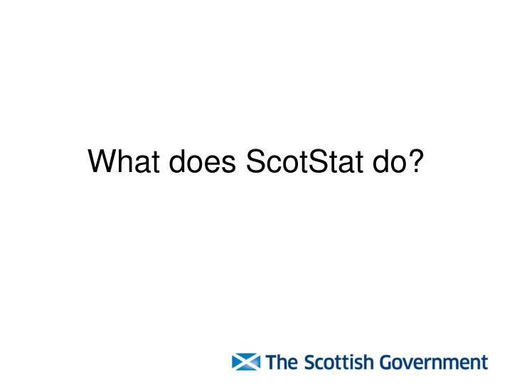 What does ScotStat do?