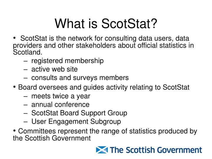 What is ScotStat?
