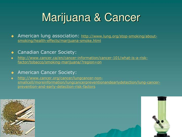 Marijuana & Cancer