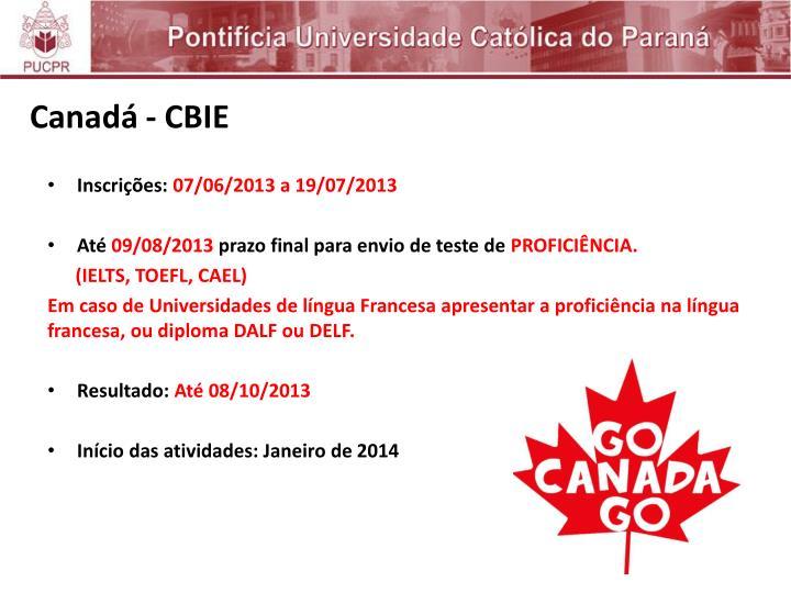 Canadá - CBIE