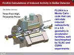 fluka calculations of induced activity in babar detector