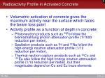 radioactivity profile in activated concrete