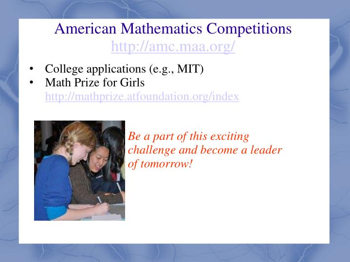 American Mathematics Competitions