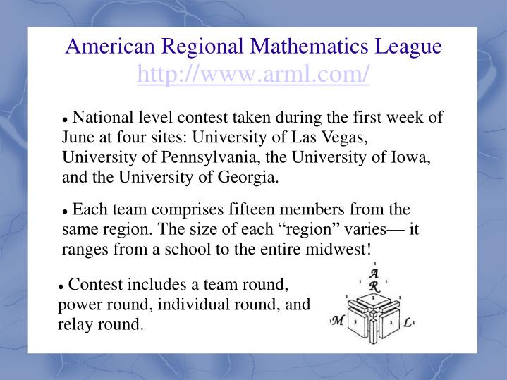 American Regional Mathematics League