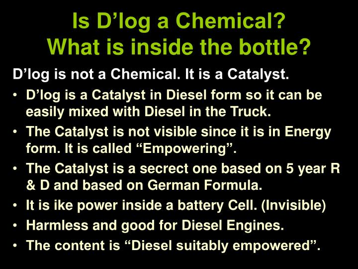 Is D'log a Chemical?