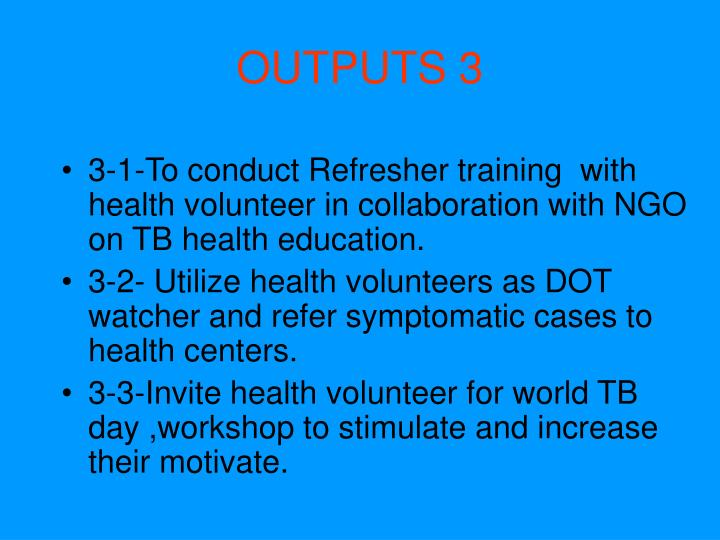 OUTPUTS 3