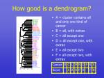 how good is a dendrogram