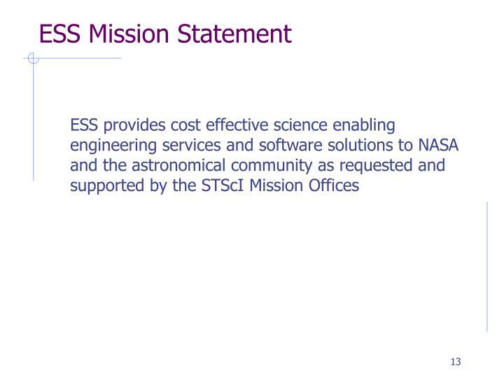 ESS Mission Statement