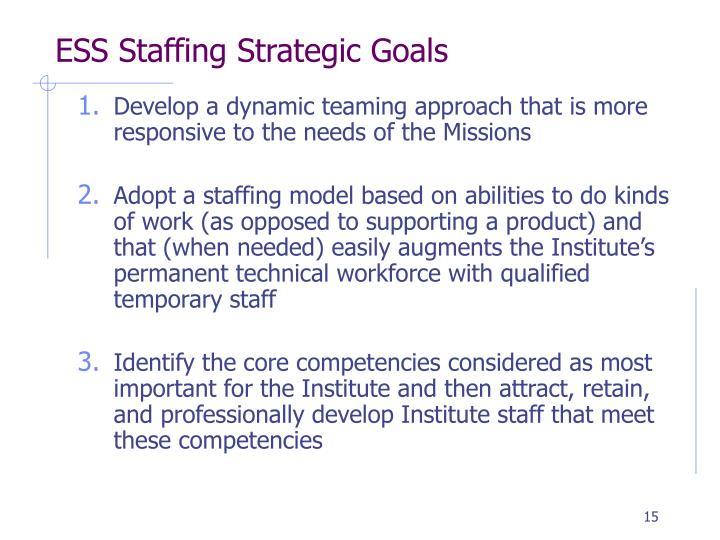 ESS Staffing Strategic Goals