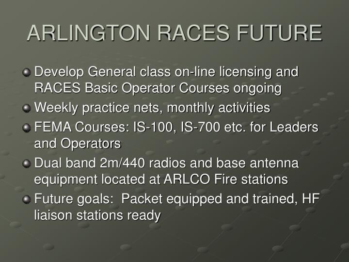ARLINGTON RACES FUTURE