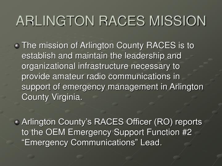 ARLINGTON RACES MISSION