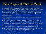 floor crops and effective yields