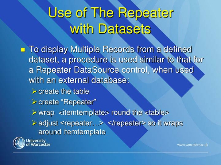 Use of The Repeater