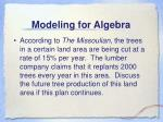 modeling for algebra
