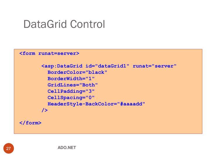 DataGrid Control