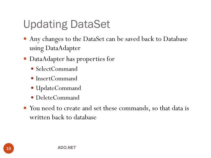 Updating DataSet
