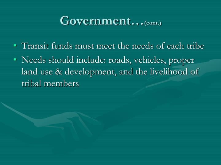 Government…