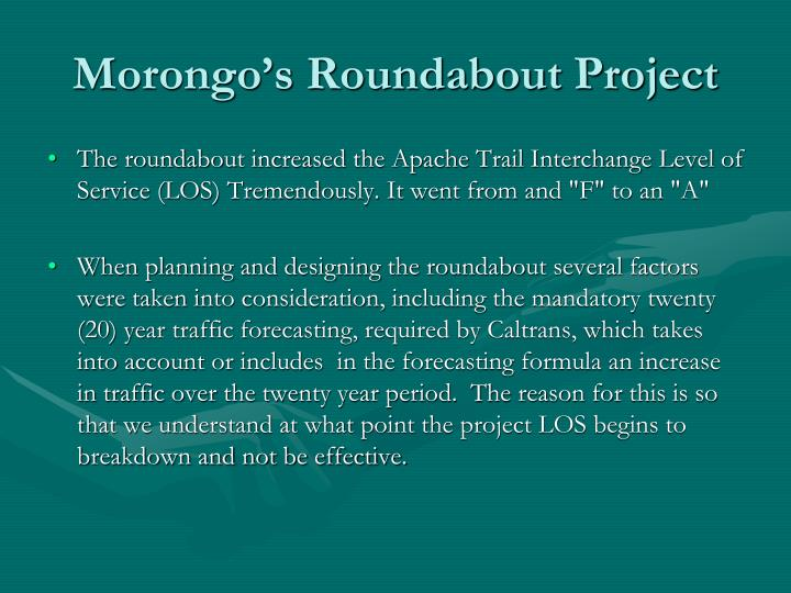 Morongo's Roundabout Project