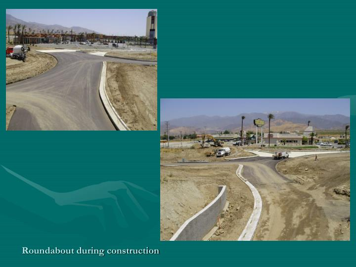 Roundabout during construction