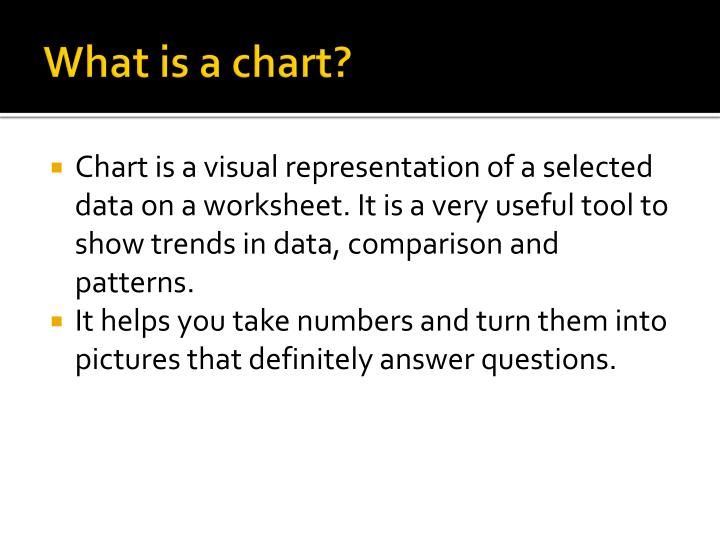 What is a chart?