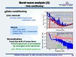 burst wave analysis 3 data conditioning