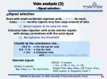veto analysis 3 signal selection