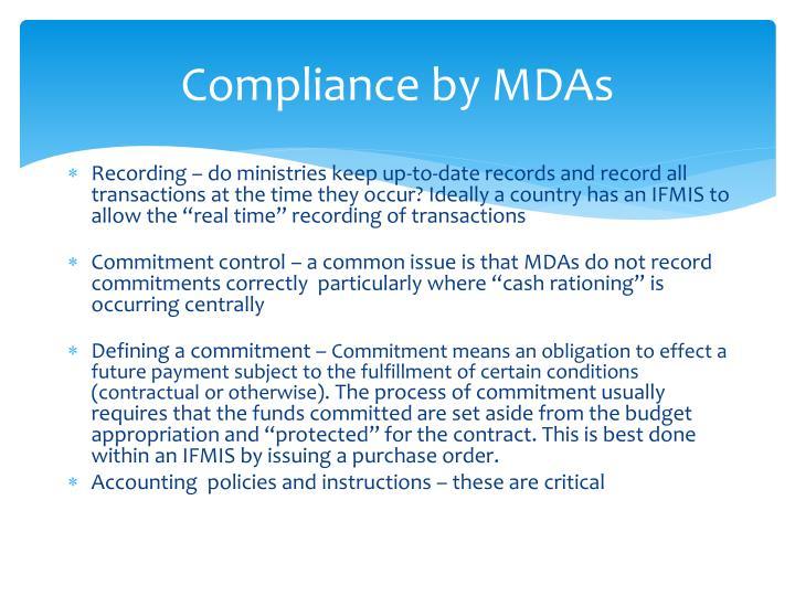 Compliance by MDAs