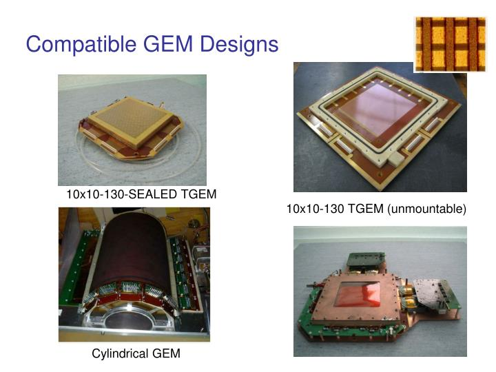 Compatible GEM Designs