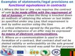 examples of statements legal provisions on functional equivalence in contracts