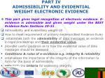 part iv admissibility and evidential weight electronic evidence