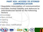 part xiv access to stored communication